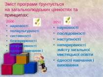 Зміст програми ґрунтується на загальнолюдських цінностях та принципах: 2006 н...