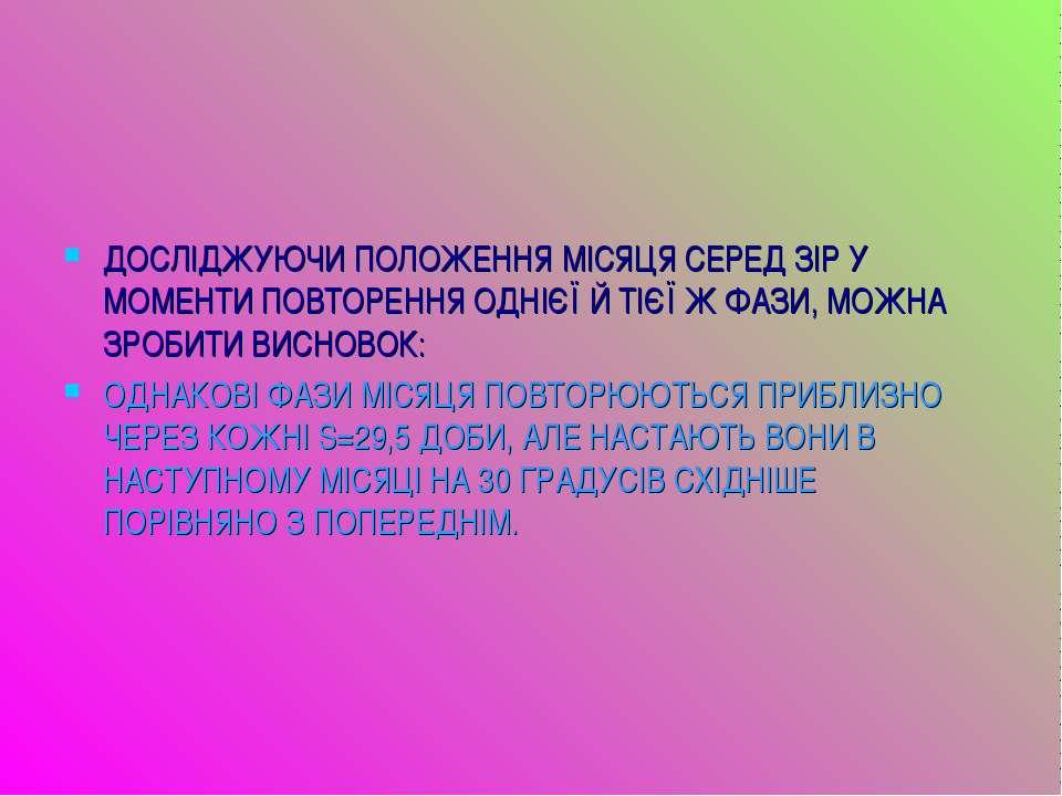 ДОСЛІДЖУЮЧИ ПОЛОЖЕННЯ МІСЯЦЯ СЕРЕД ЗІР У МОМЕНТИ ПОВТОРЕННЯ ОДНІЄЇ Й ТІЄЇ Ж Ф...