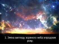 1. Зміна вигляду зоряного неба впродовж року.