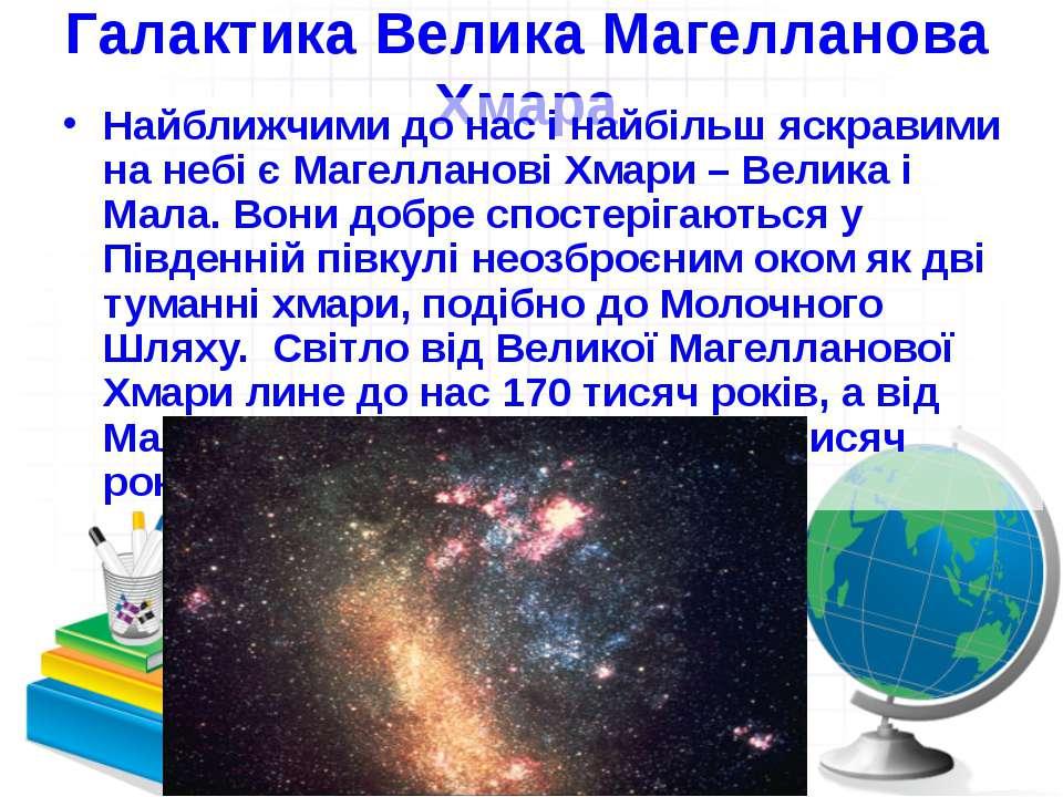 Галактика Велика Магелланова Хмара Найближчими до нас і найбільш яскравими на...