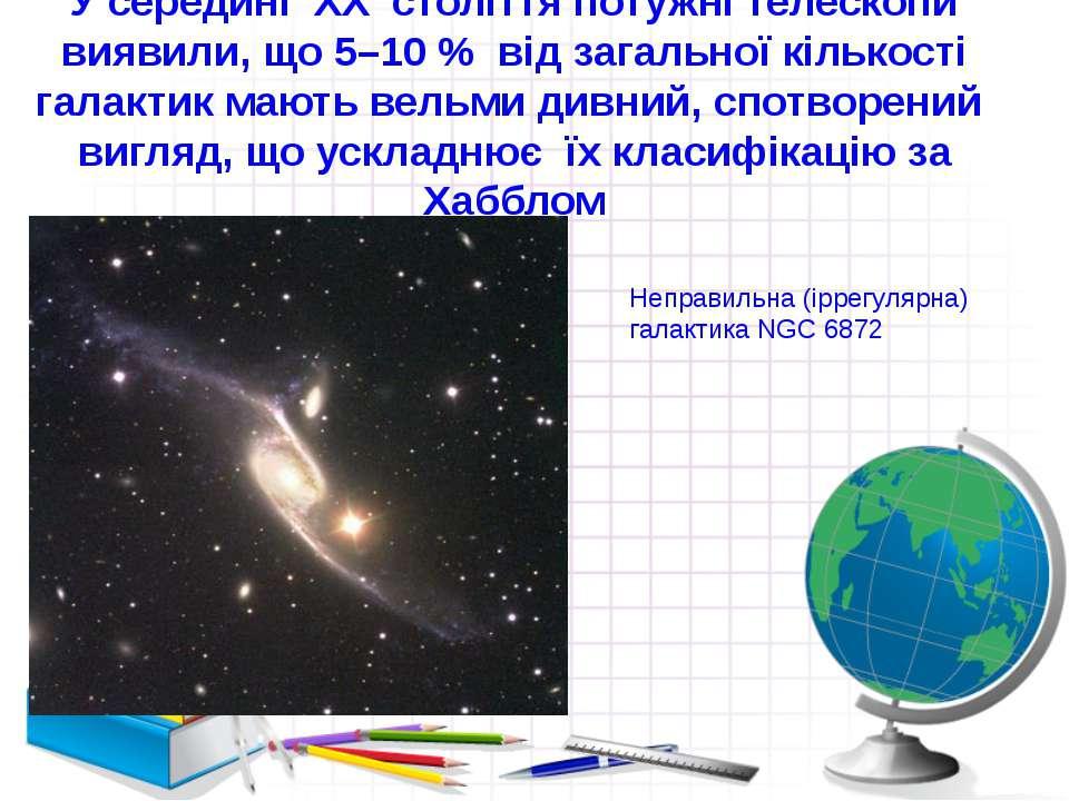 У середині XX століття потужні телескопи виявили, що5–10 % від загальноїкі...