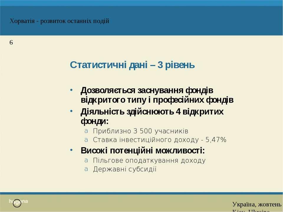 Статистичні дані – 3 рівень Дозволяється заснування фондів відкритого типу і ...