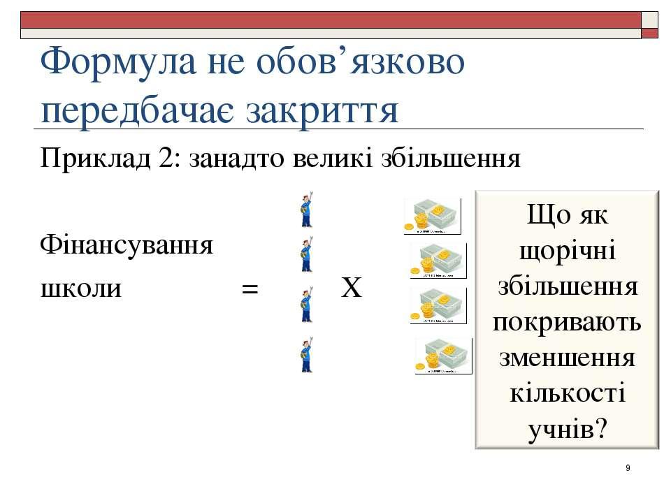 Формула не обов'язково передбачає закриття Приклад 2: занадто великі збільшен...
