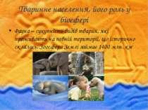 Тваринне населення, його роль у біосфері Фауна – сукупність видів тварин, які...