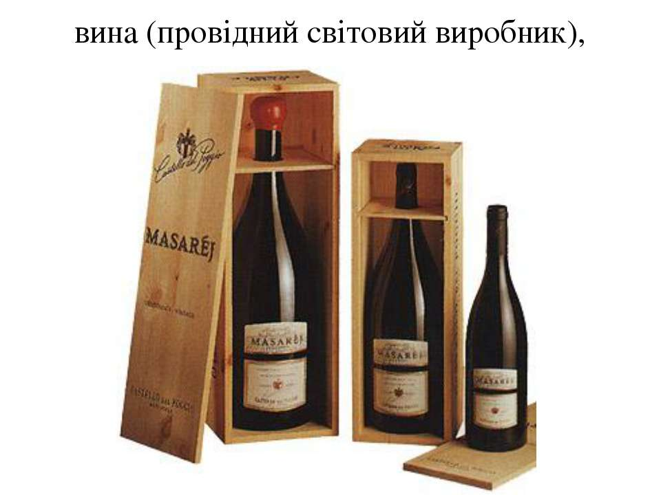 вина (провідний світовий виробник),