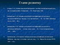 Етапи розвитку 1. Кленов,А. В. Техника школьной библиотеки : пособие для биб...