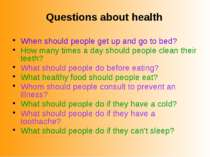 When should people get up and go to bed? How many times a day should people c...