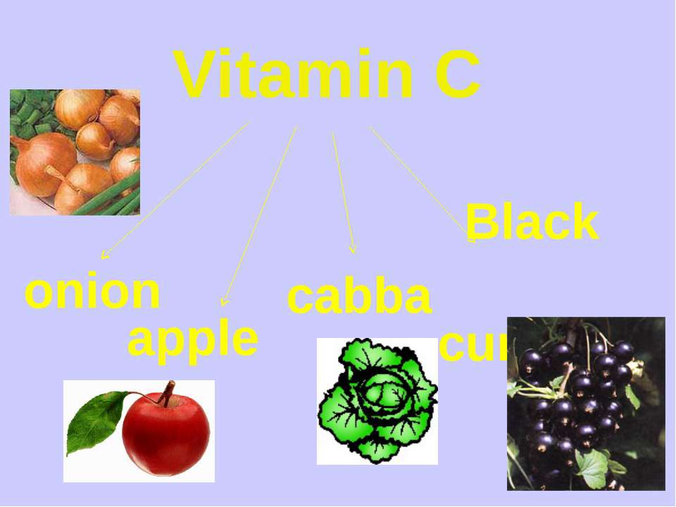 Vitamin C onion apples cabbage Black currants