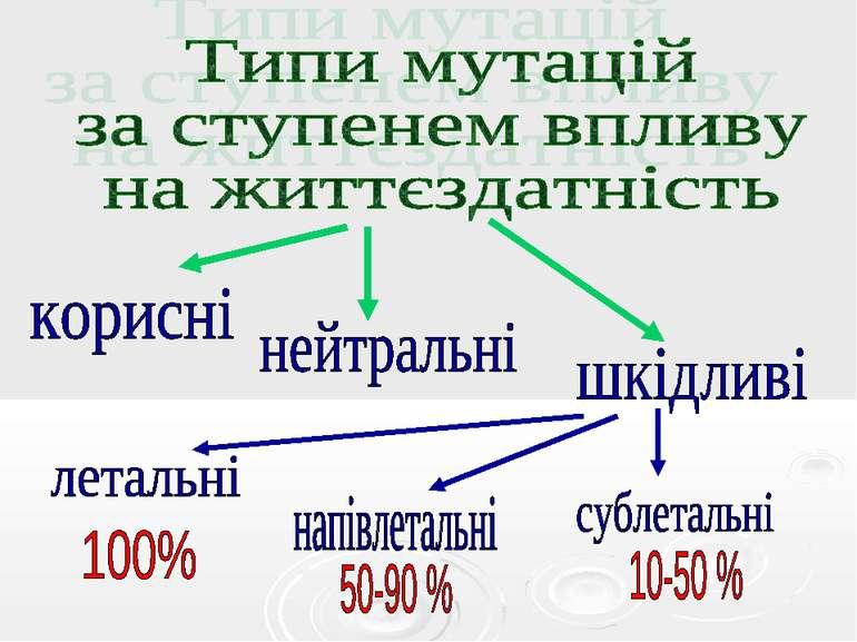 Типи мутацій за ступенем впливу на життєздатність