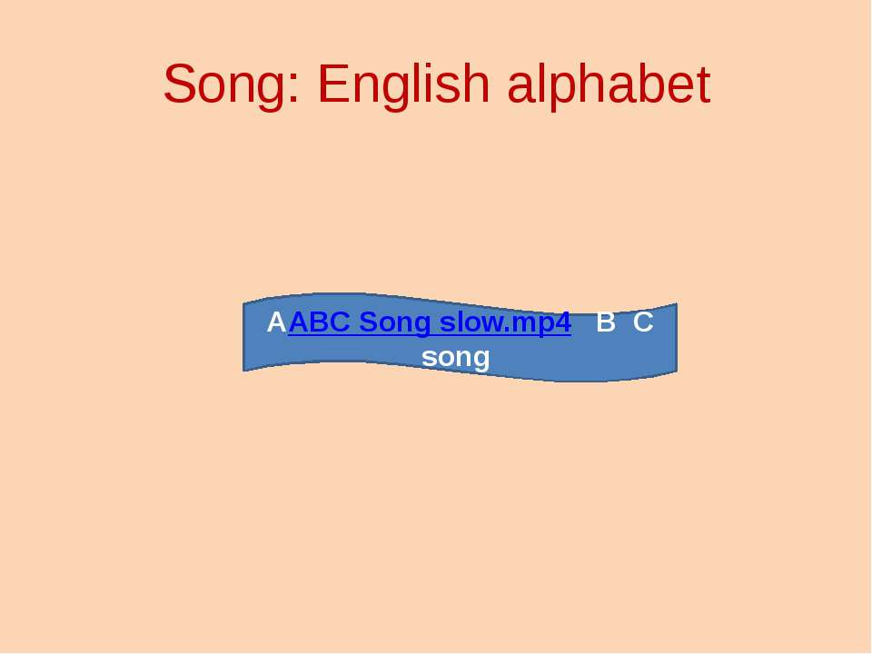 Song: English alphabet AABC Song slow.mp4 B C song