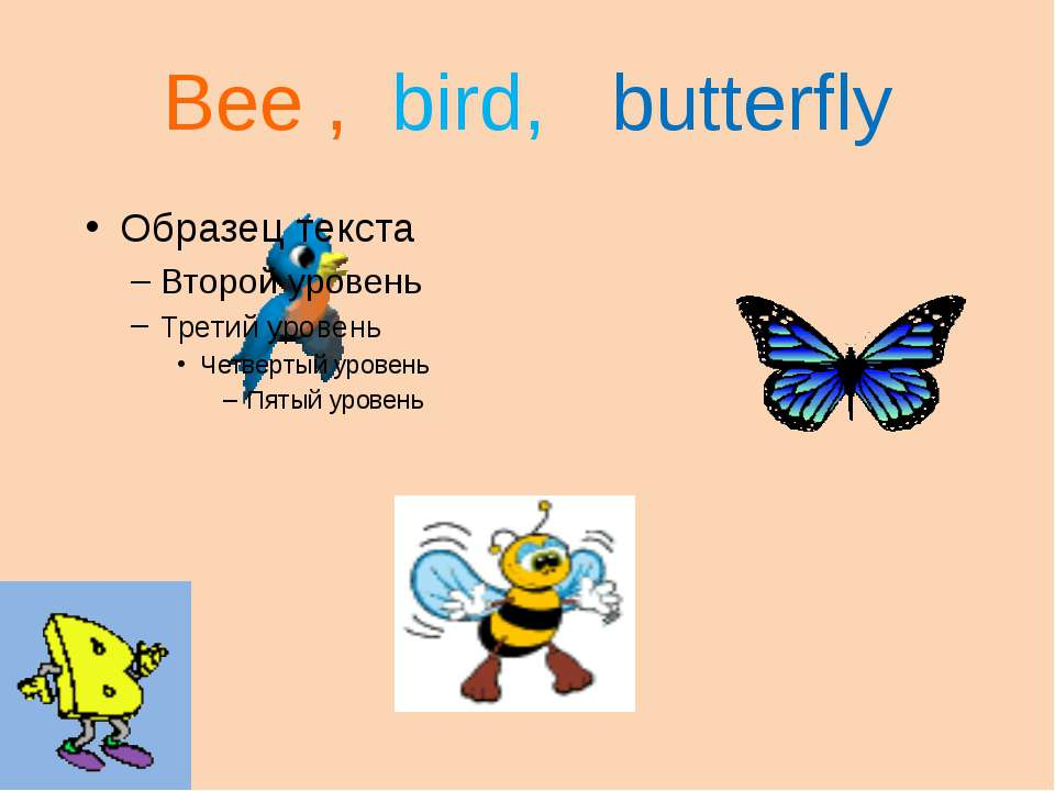 Bee , bird, butterfly