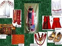 Жіночий костюм: сорочка пояс запаска плахта попередниця намисто постоли корсетка