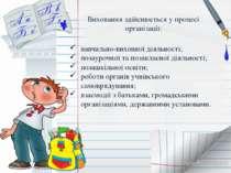 навчально-виховної діяльності; позаурочної та позакласної діяльності; позашкі...