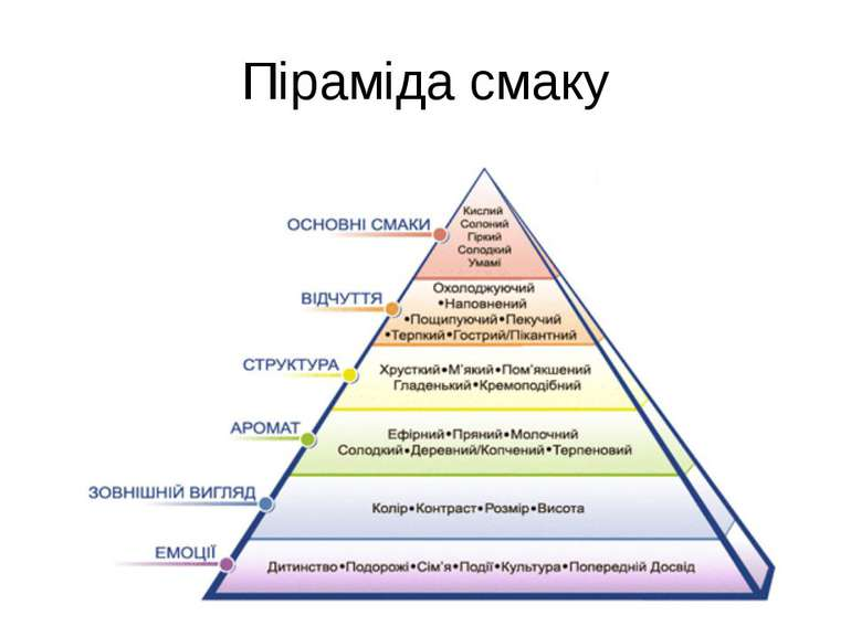 Піраміда смаку
