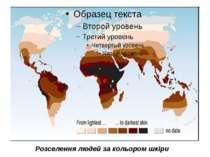 Розселення людей за кольором шкіри