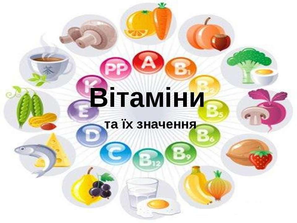 Вітаміни та їх значення