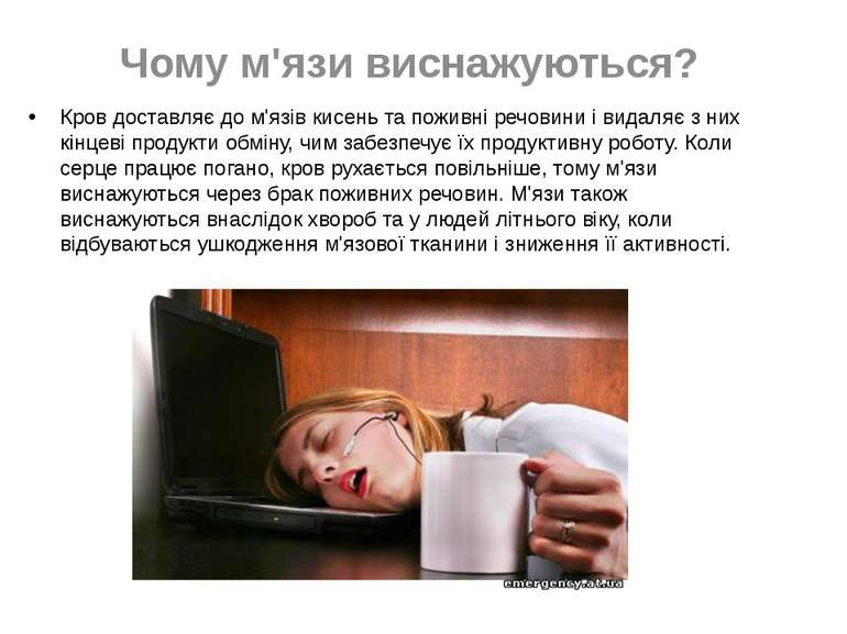 Чому м'язи виснажуються? Кров доставляє до м'язів кисень та поживні речовини ...