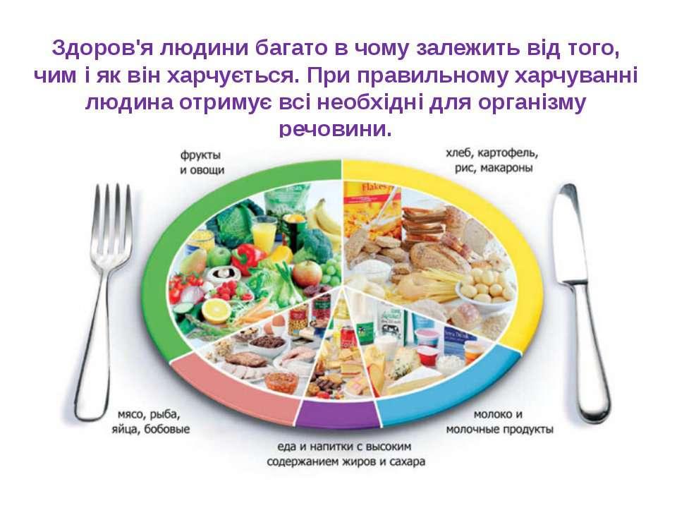 Здоров'я людини багато в чому залежить від того, чим і як він харчується. При...