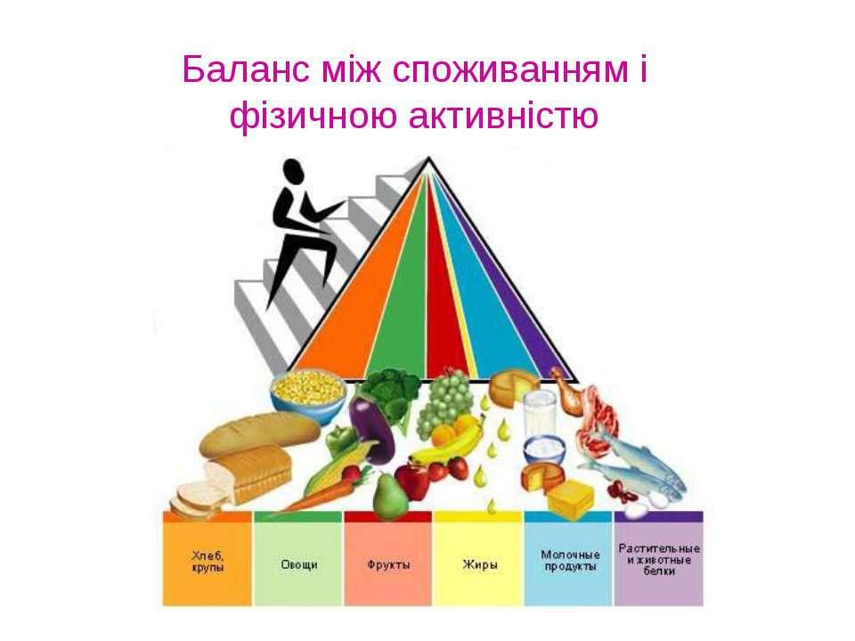 Баланс між споживанням і фізичною активністю
