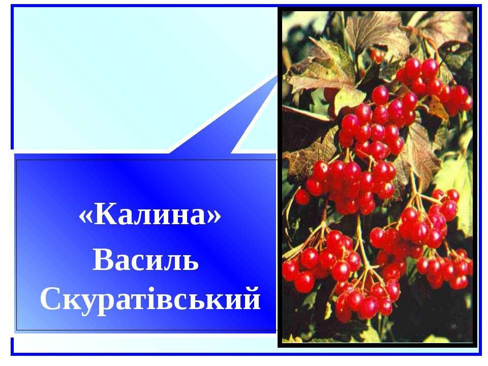 «Калина» Василь Скуратівський