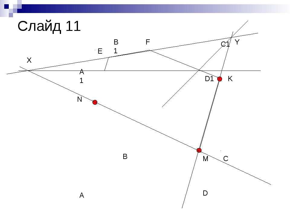 A B C D A1 B1 C1 D1 N M K X Y E F Слайд 11