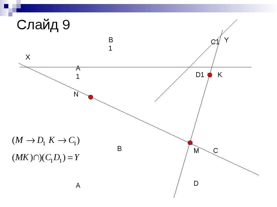 A B C D A1 B1 C1 D1 N M K X Y Слайд 9