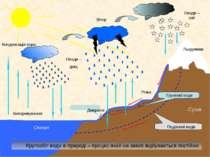 Випаровування Конденсація пари Опади – дощ Опади – сніг Вітер Кругообіг води ...