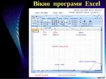 Вікно програми Excel
