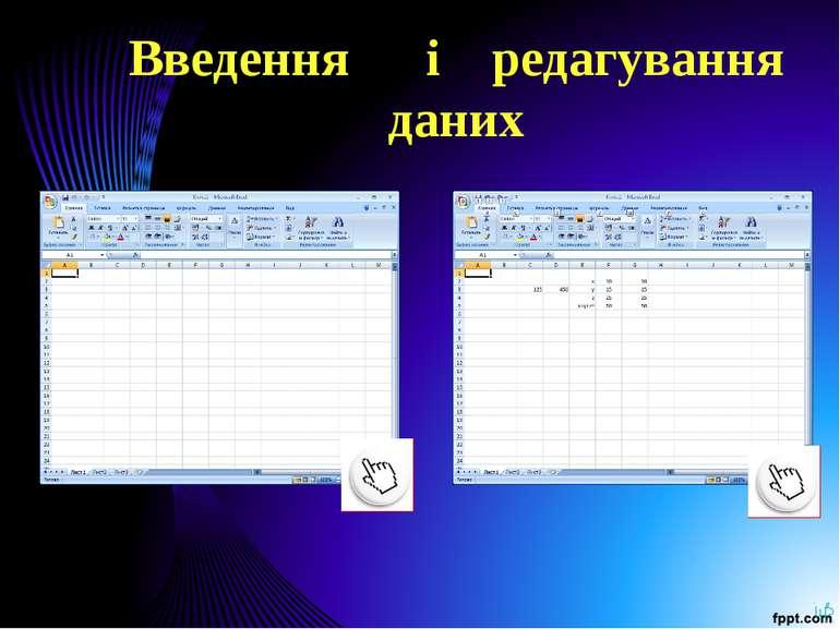 Введення і редагування даних