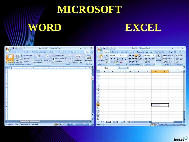 MICROSOFT WORD EXCEL