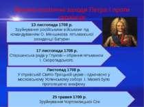 Воєнно-політичні заходи Петра І проти українців 17 листопада 1708 р. Старшинс...