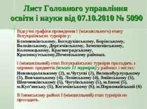 Лист Головного управління освіти і науки від 07.10.2010 № 5090 Відсутні графі...