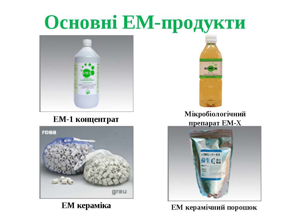 Основні ЕМ-продукти ЕМ-1 концентрат Мікробіологічний препарат ЕМ-Х ЕМ керамік...