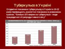 Туберкульоз в Україні Епідемічні показники туберкульозу в Україні в 10-12 раз...