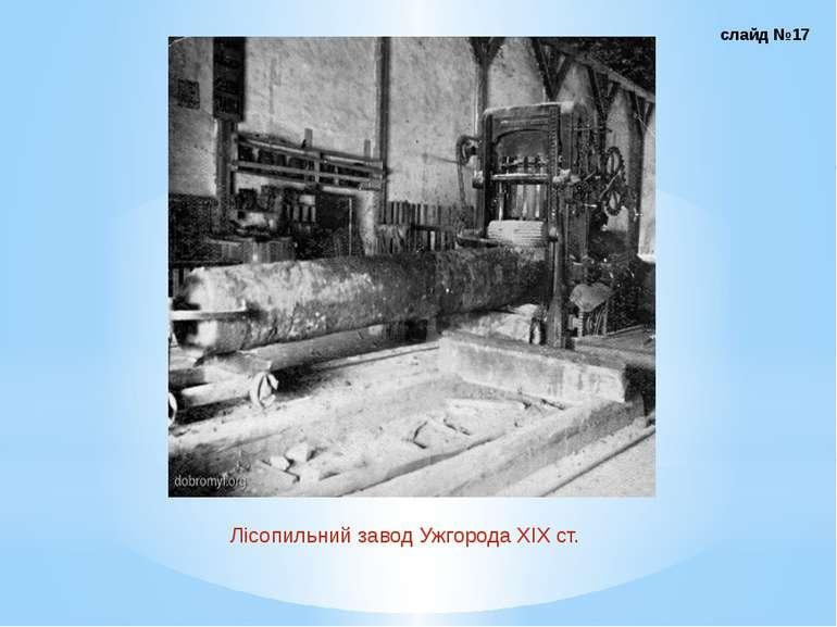 Лісопильний завод Ужгорода ХІХ ст. слайд №17