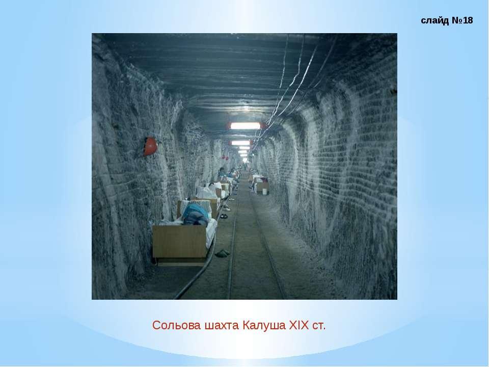 Сольова шахта Калуша ХІХ ст. слайд №18