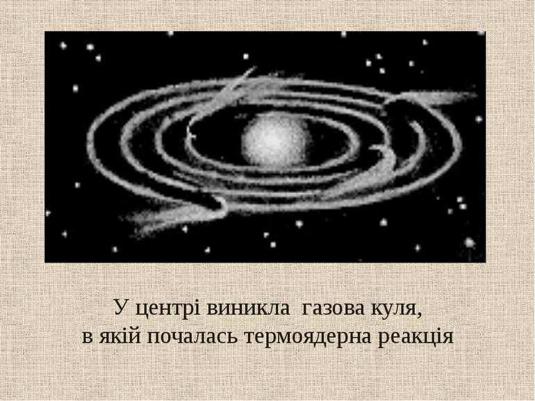 У центрі виникла газова куля, в якій почалась термоядерна реакція