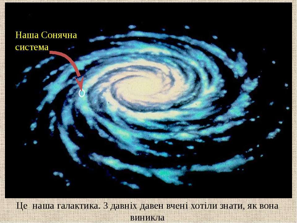 Це наша галактика. З давніх давен вчені хотіли знати, як вона виникла Наша Со...