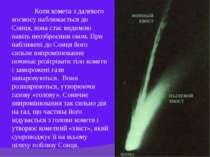 Коли комета з далекого космосу наближається до Сонця, вона стає видимою навіт...