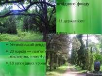 Об'єкти природно-заповідного фонду 46 заказників, у тому числі 11 державного ...