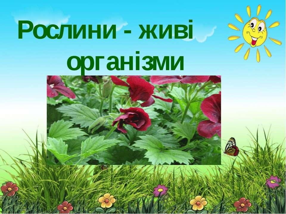 Рослини - живі організми