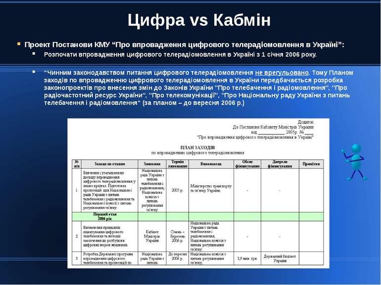 """Цифра vs Кабмін Проект Постанови КМУ """"Про впровадження цифрового телерадіомов..."""
