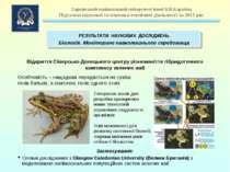 Відкриття Сіверсько-Донецького центру різноманіття гібридогенного комплексу з...
