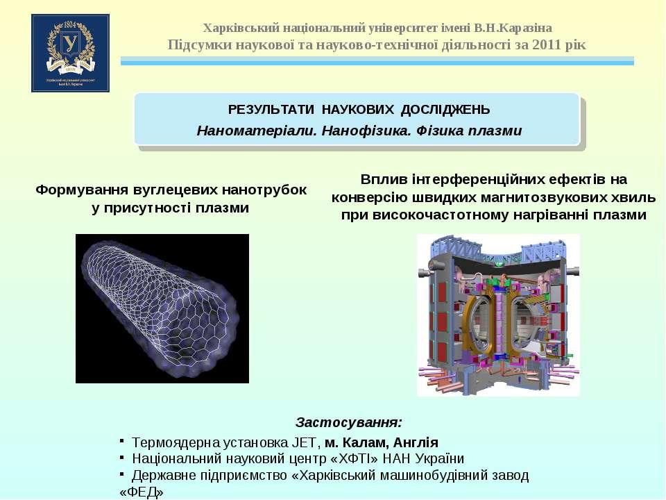 Формування вуглецевих нанотрубок у присутності плазми Вплив інтерференційних ...