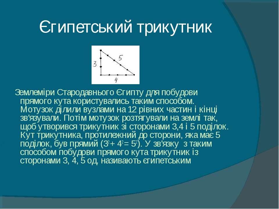 Єгипетський трикутник Землеміри Стародавнього Єгипту для побудови прямого кут...