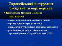 Європейський інструмент сусідства та партнерства Інструмент Ядерної Безпеки П...