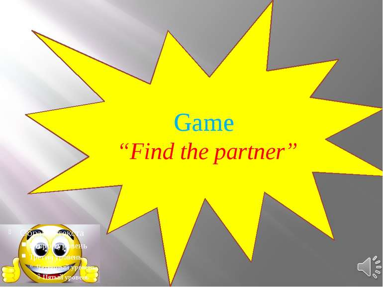 "Game ""Find the partner"""