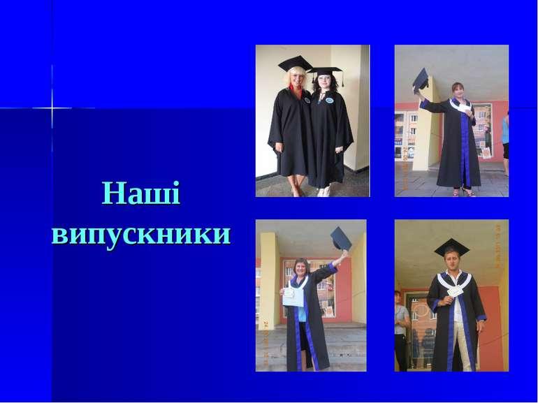 Наші випускники