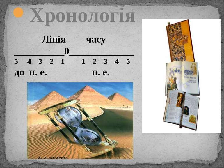 Хронологія Лінія часу __________0_____________ 5 4 3 2 1 1 2 3 4 5 до н. е. н...