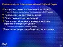 """Можливості для Східноєвропейської Робочої Групи """"Скоротити схему постачання н..."""